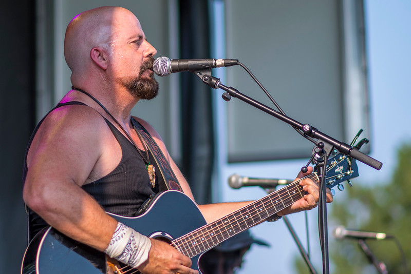 Front man Ray Brasseur performs with his band Hearts Of Steele during the Roy Days 2017 on August 3, 2017. The community gathers for food, music and fireworks at Roy West Park.
