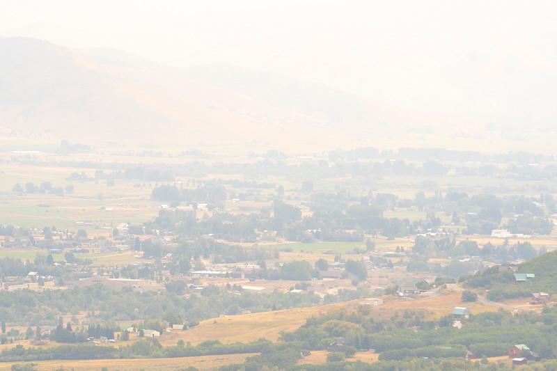 Heber enveloped in smoke as the California fires burn, On August 9, 2021.