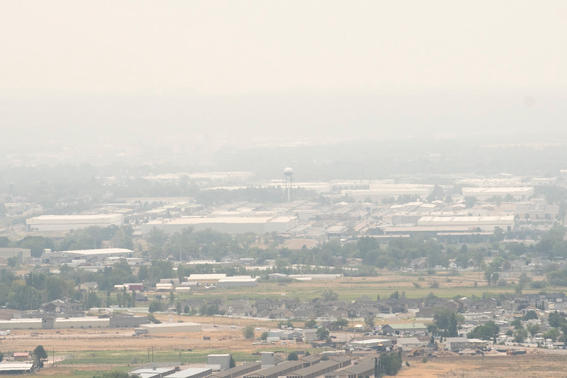The BDO pictured on a smoky day, In Ogden, On August 9, 2021.