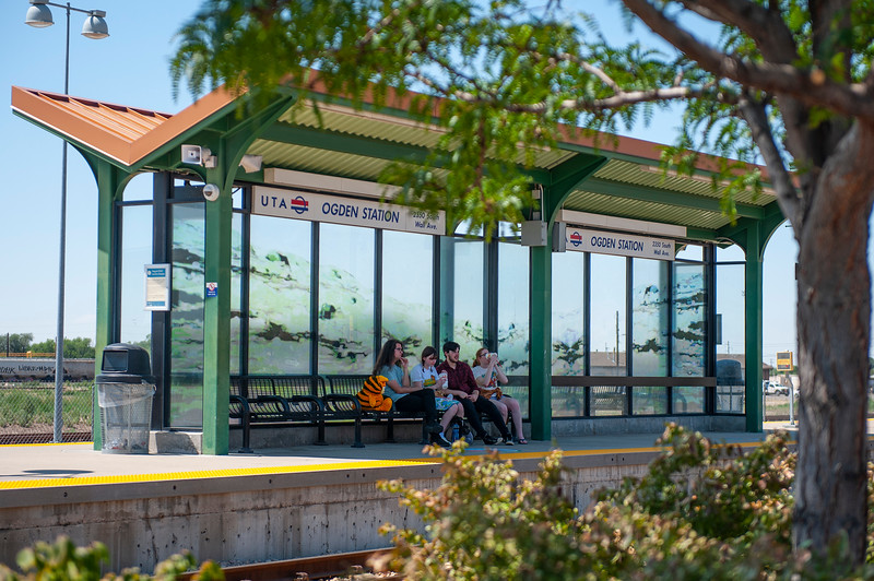 UTA is in the process of expanding services after cuts during pandemic, but rates will be going up as well. At the Ogden Frontrunner station, on August 3, 2020.