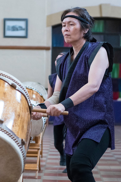 Joyce Chen performs with the Ogden Buddhist Taiko Drummers at the Heritage Festival at Ogden's Union Station on Saturday May 13, 2017. She has been performing with the group for two years.