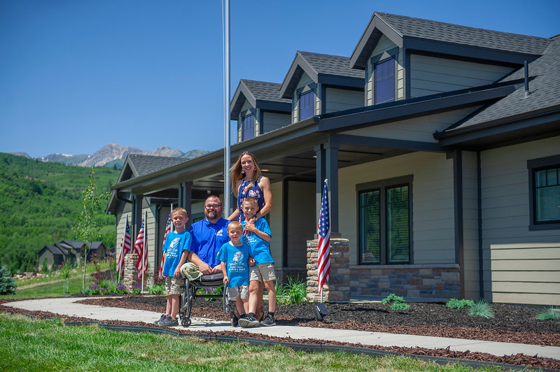 The Vendela Family get pictures in front of their new home, that was a surprise for Vendela's. On July 3, 2020 in Huntsville.