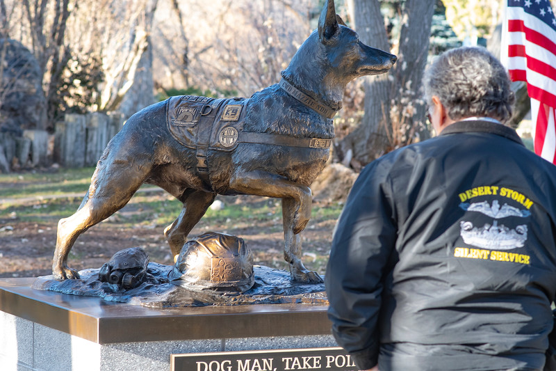 Vietnam Combat Dog Memorial dedication takes place at the Layton Commons Park, On December 5, 2020.