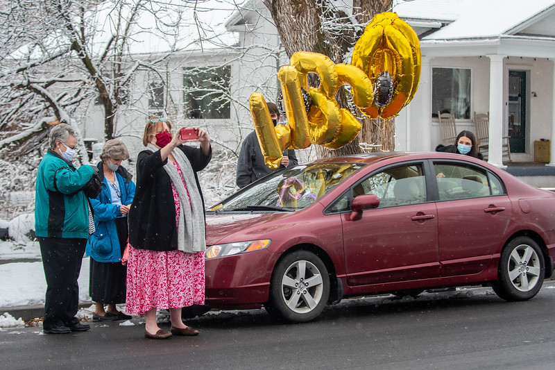 Wallace Gatrell, a WWII and Korean War vet who is turned 100 on Monday. Well-wishers are to be celebrating his life from afar, on Sunday Jan 24, 2021, in Farmington.