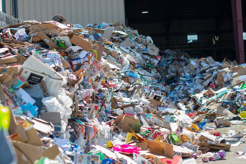 Some cities have scaled back services, threatening the local company that processes recyclables. In Ogden, on July 8, 2020.