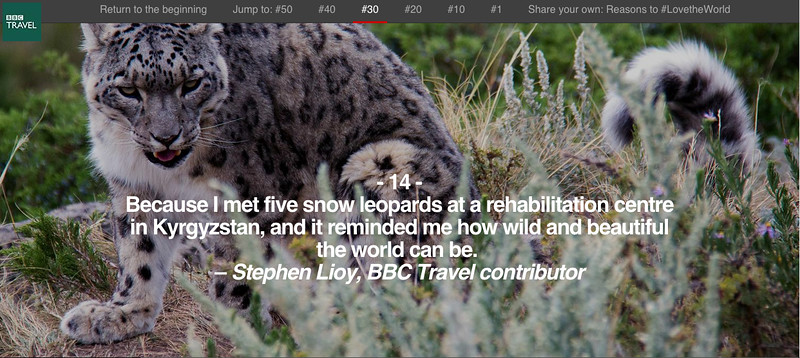 BBC Travel - 50 Reasons to Love the World