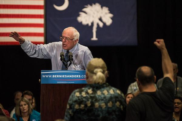 Sen. Bernie Sanders in Columbia