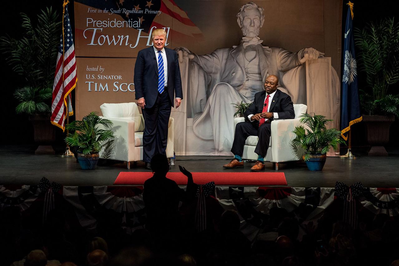 Tim Scott's Presidential Town Hall series - Trump