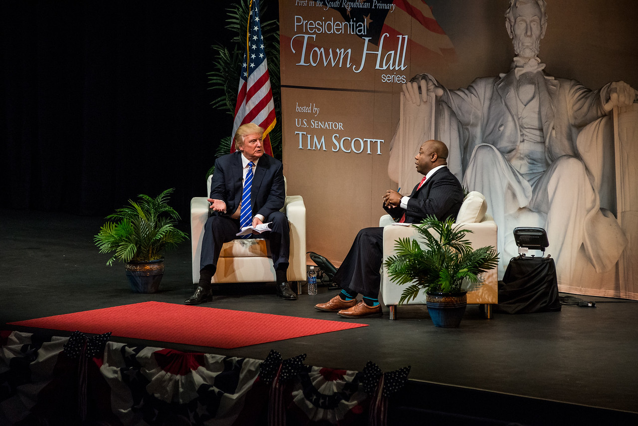 Tim Scott's Presidential Town Hall series - Trump