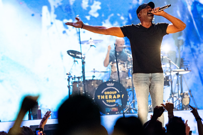 Darius Rucker sings with Hootie and the Blowfish on Wednesday night, the first of three consecutive concerts at Colonial Life Arena as part of the band's 'Group Therapy Tour' on September 11, 2019. John A. Carlos II / Special to The Free Times
