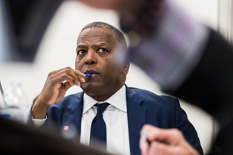 Columbia Mayer Stephen Benjamin sits in a meeting before the City Council convened for the first time after the 2019 Election. John A. Carlos II / Special to The Free Times