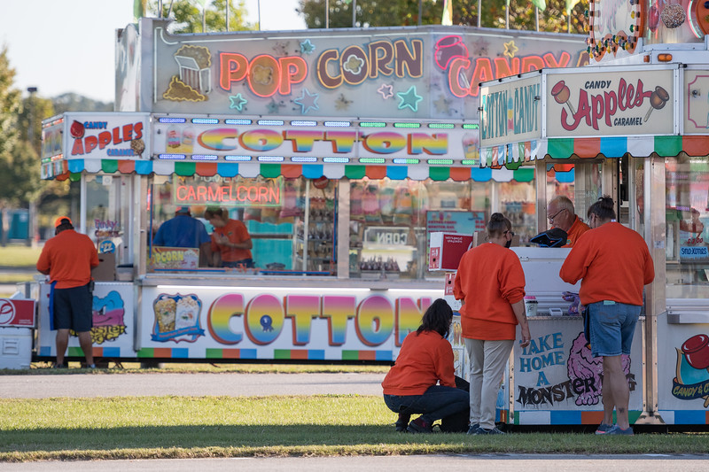 Workers get ready for the opening day of the drive-thru State Fair on Monday Oct. 19. John A. Carlos II / Special to The Post and Courier