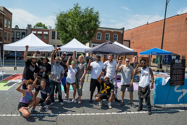 "Sixteen artist collaborated to paint a ""Black Lives Matter"" mural in front of Spartanburg's City Hall, on June 20, 2020. John A. Carlos II"
