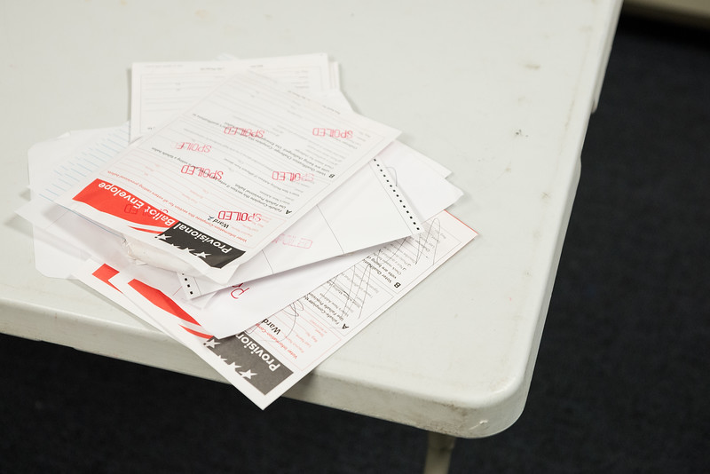 Spoiled ballots envelopes on a table at the Richland County Administration Building in the election commission office in Columbia on Wednesday, November 4. John A. Carlos II / Special to The Post and Courier