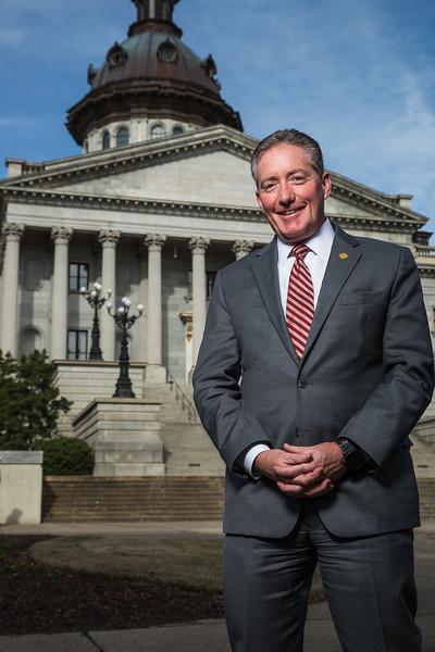 Chairman of South Carolina Senate Education Committee, Senator Greg Hembree. John A. Carlos II