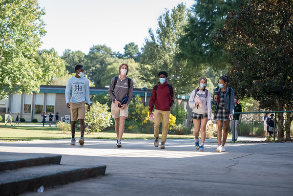 Students at Heathwood Hall walk to class on Oct. 2, 2020. John A. Carlos II / Special to The Post and Courier