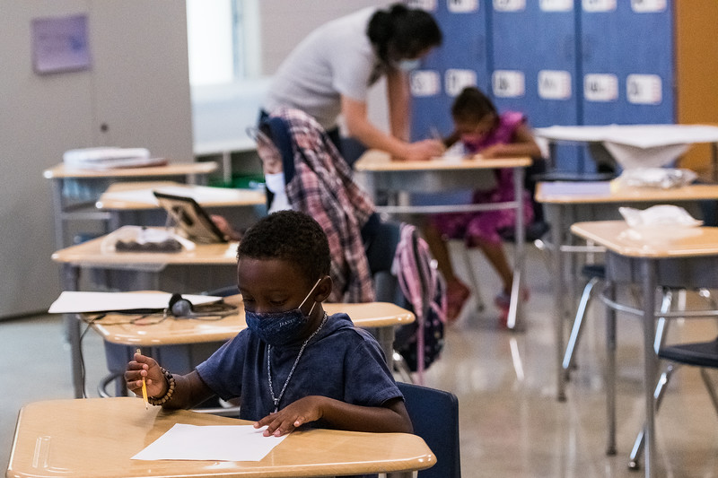 Students attending summer classes and camps at East Point Academy, are required to wear PPE, and will continue into the upcoming school year. John A. Carlos II / Special to The Free Times