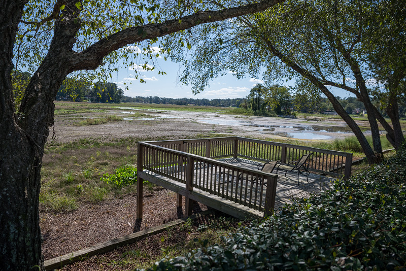 Lake Katherine as seen from the back yard of Donna Oliphant. Over a year ago Lake Katherine's water was drained for a new sewer line being put in along the the gills creek watershed. John A. Carlos II / Special to The Post and Courier