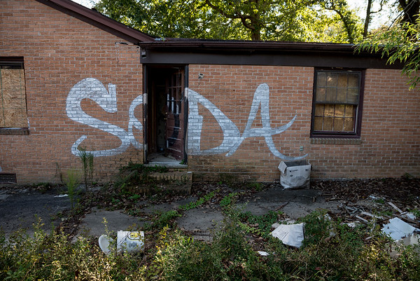 The house at 4230 on Timberlane Drive in Columbia remain boarded up and empty, five years after the historic floods of 2015. John A. Carlos II / Special to The Post and Courier