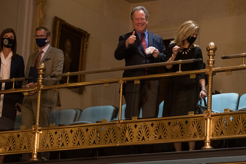 Former governor of South Carolina David Beasley,  Attends the State of the State Address at the Statehouse in Columbia on Wednesday, Jan. 13. John A. Carlos II/Special to The Post and Courier