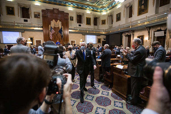 South Carolina Gov. Henry McMaster delivers the State of the State address at the Statehouse in Columbia on Wednesday, Jan. 13. John A. Carlos II/Special to The Post and Courier