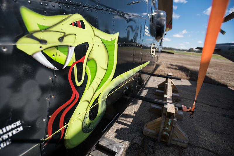 A painting of a cobra adorns the side of a Bell AH-1F helicopter at the Celebrate Freedom Foundation. John A. Carlos II / Special to The Post and Courier