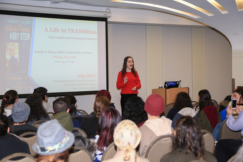 "Abby Stein presents ""A Life in TRANSition.""<br /> February 22, 2018"