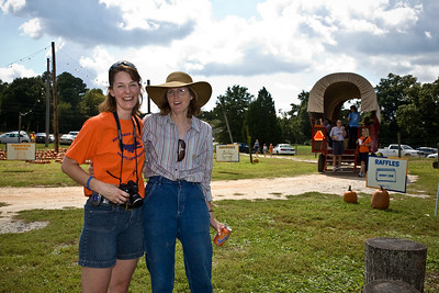 Kelly Keiter (One of the organizers of the event and sent information to Pat at Union County Weekly) and Nancy Anderson (Nancy is the owner of Hunter Farm and donated her property, the hay rides, the tractors and more for the day.)