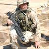 American soldier in Baghdad.