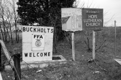 Welcome Sign from the FFA (Future Farmers of America) in Buckholts