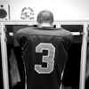 Running Back Dustin Barker gets focused in the locker room before their October 22, 2010 game vs. the Oglesby Tigers.