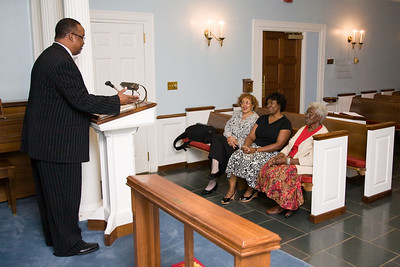 From left to right:   Chaplain Burns,  Denise D. Cathey (The Solomon House, Health Ministry Education), Linda Mendinghall (CMC Randolph, RN, MSN) Bernice J. Miller (Retired)
