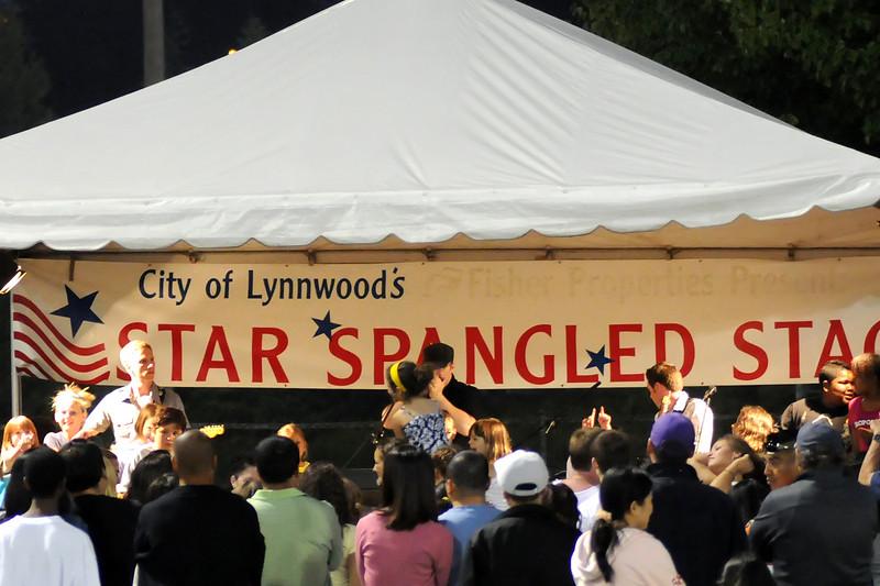 Band at Lynnwood 4th of July Celebration<br /> For the Enterprise/John Kossik