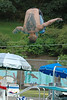 For the Enterprise/John Kossik<br /> Steve Powell, 27 of Marysville tucks in for a flip in her chance at the cannonball contest