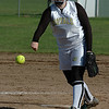 For the Enterprise/John Kossik<br /> Lynnwood's Julia Nealer pitches against Mount Vernon in their first game of the District 1 3A Fastpitch Tournament