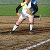 For the Enterprise/John Kossik<br /> Lynnwood's firstbaseman Alexandra Kossik moves towards a line drive down the line in their second game in the District 1 3A Fastpitch Tournament against Ferndale