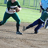 For the Enterprise/John Kossik<br /> Shorecrest's Cortnee Bryant slides into second in their second game against Mount Vernon in the District 1 3A Fastpitch Tourament