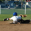 For the Enterprise/John Kossik<br /> Choloe Gaudzwaard of Lynnwood tags Ferndale runner at second in second game of District 1 3A Fastpitch tournament
