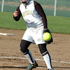 For the Enterprise/John Kossik<br /> Lynnwood's Julia Nealer pitches against Ferndale in their second game of the District 1 3A Fastpitch Tournament