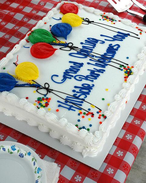 For the Enterprise/John Kossik<br /> Everyone enjoyed the cake at the Hillside Park Dedication ceremony