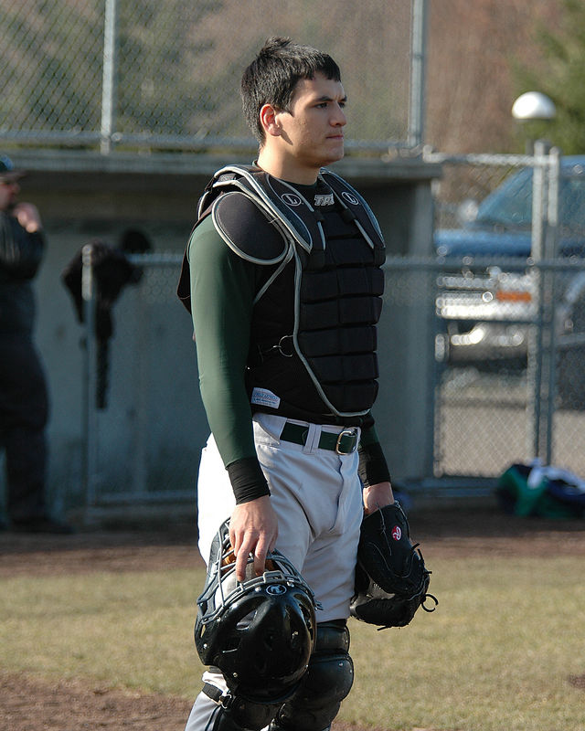 For the Enterprise/John Kossik<br /> Catcher Kawika Emsley-Pai takes some infield