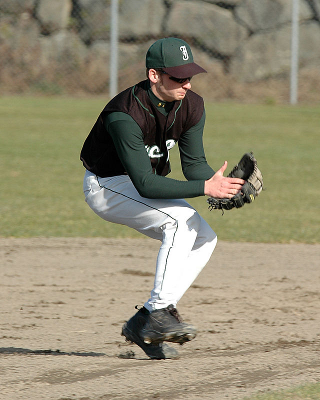 For the Enterprise/John Kossik<br /> Marc Schuremeyer takes some balls at shortstop a day before Jackon's first game.