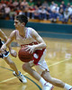 For the Enterprise/John Kossik<br /> King's guard Bryan Ayers drives to the hoop in the second half.
