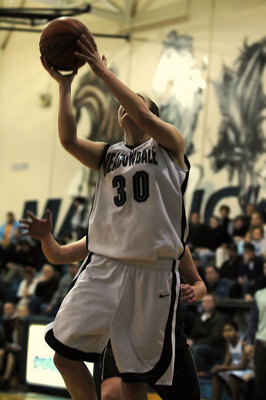For the Enterprise/John Kossik<br /> Caitlyn Rohrbach drives for the layup in the second half