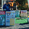 For the Enterprise/John Kossik<br /> WSU Beachwatchers set up their Poop Toss Game at the Edmonds Off-Leash Dog Park as part of Coastal Clean Up Day.
