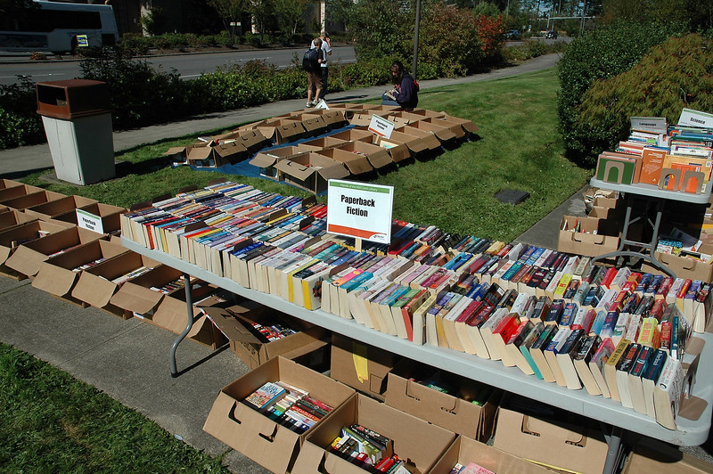 For the Enterprise/John Kossik<br /> Friends of Mill Creek Library Book Sale outside Mill Creek Library
