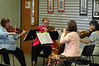 For the Enterprise/John Kossik<br /> Members of the Cascade Symphony Orchestra, Judi Tourigny, Becca Gillette, Kathy Moellenberndt, and Norma Dermond perform at the Lynnwood Library for the opening of National Library Week