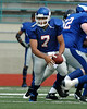 For the Enterprise/John Kossik<br /> Vikings Quarterback Daimino Stewart perpares to give the handoff in the first quarter