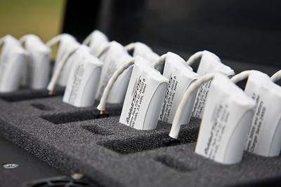 rechargeable battery packs for each helmet sensor.