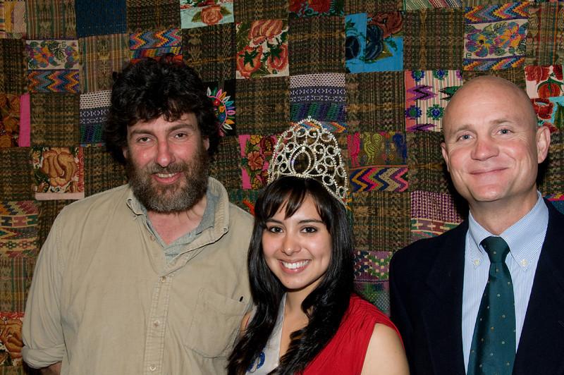 Tom clarke, Karin Donis and Ambassador Georges de La Roche